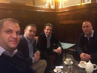 Kurti, Selimi e Ahmeti vizitojnë Haradinajn në Francë