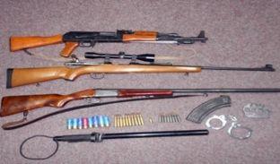 Në aksione të ndara konfiskohen disa armë paleje