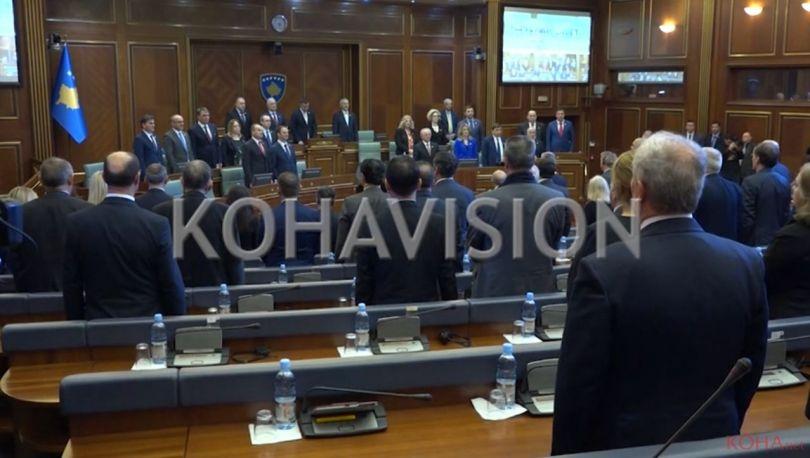 Pushteti thotë se Kosova u forcua si shtet në këto 9 vjet, opozita lë sallën kur flet Thaçi