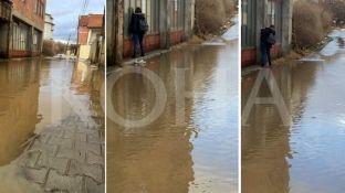 Ngritja e temperaturave në kryeqytet solli vërshime në disa rrugë [foto/video]
